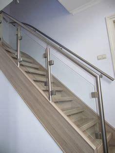 balustrade langs trap balustrade glazen hekje schuin langs trap lumigrip rvs