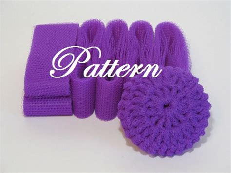 pattern for nylon net scrubbies scrubbie pattern for nylon netting dish by insidesandysshop