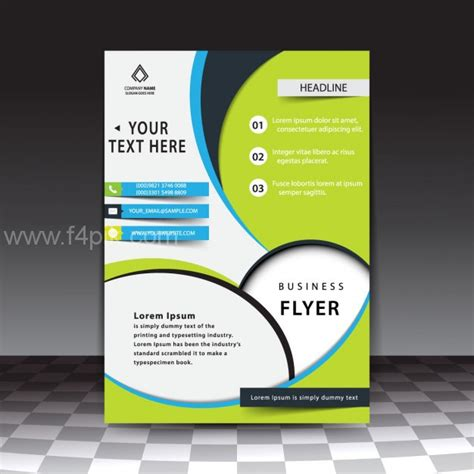brochure templates eps free download vector modern stylish business flyer template free