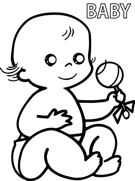 coloring pages baby newborn baby coloring page baby minnie wearing bow