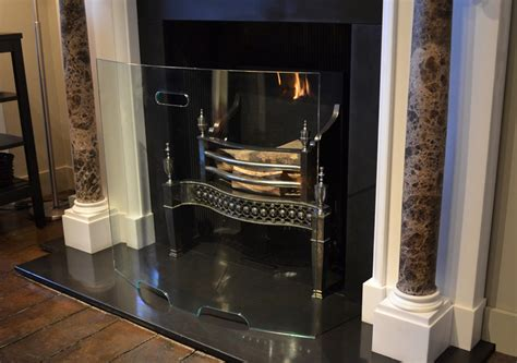 curved glass fire screen the fireplace company