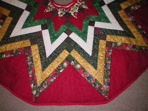 Patchwork Tree Skirt Pattern - tree skirt quilted by mlfiberartsllc on etsy