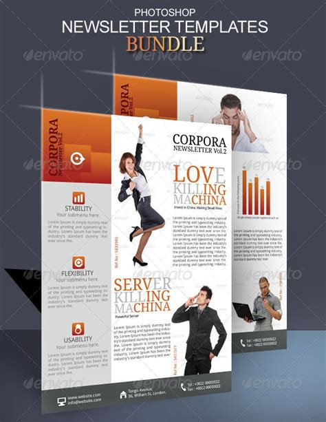 newsletter photoshop templates by blogankids graphicriver
