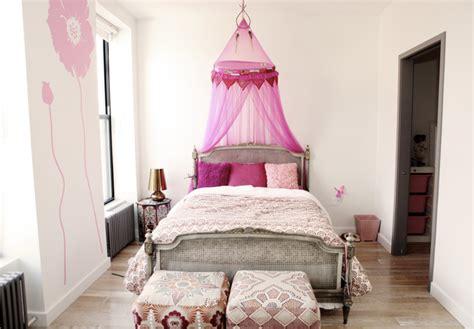 little girl s pink room transitional girl s room
