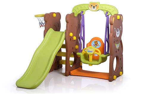 Maiinan Anak Edukasi Perosotan Rooster Slide With Rabbit Swing Ching C sewa mainan slide anak anak