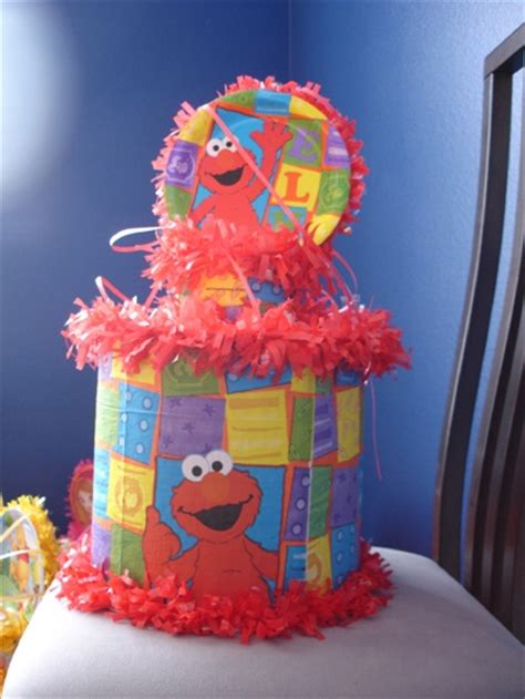 Pinata Sesame The 17 best images about pi 241 atas on goody bags tissue paper and elmo sesame