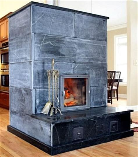 masonry heater with hearth from green mountain soapstone