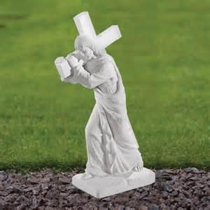 garden statue marble garden statues jesus 58cm religious sculpture