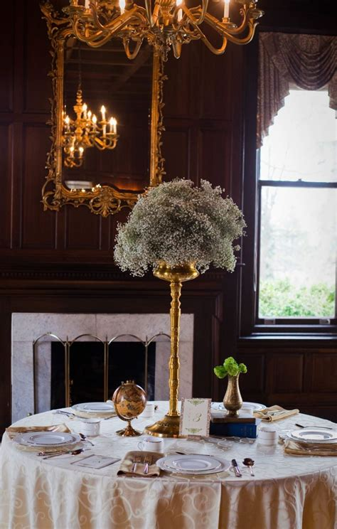 Add Spark To Wedding Decor With Metallics Part Deux Onewed High Wedding Centerpieces