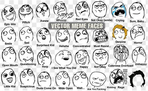 Meme Faces Original Pictures - 33 vector meme faces vector images 365psd com