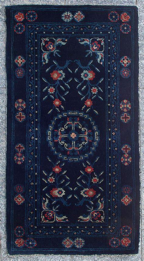 buddha rug charming soft baotou inner mongolian indigo blue buddhist rug for sale at 1stdibs