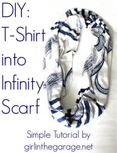How To Turn A Scarf Into An Infinity Scarf Diy T Shirt Into Infinity Scarf In The Garage 174