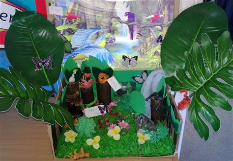 How To Make Rainforest Trees Out Of Paper - 3d geography helping with the teaching and learning of