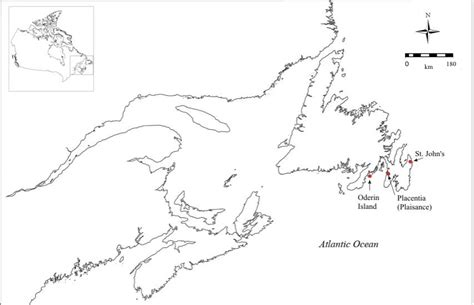 newfoundland map coloring page searching for archaeological sites on oderin island