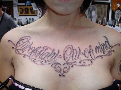 chest writing tattoos script fontsteulugar