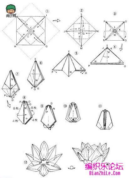 pattern making en francais 纸莲花的折法图解 编织乐论坛