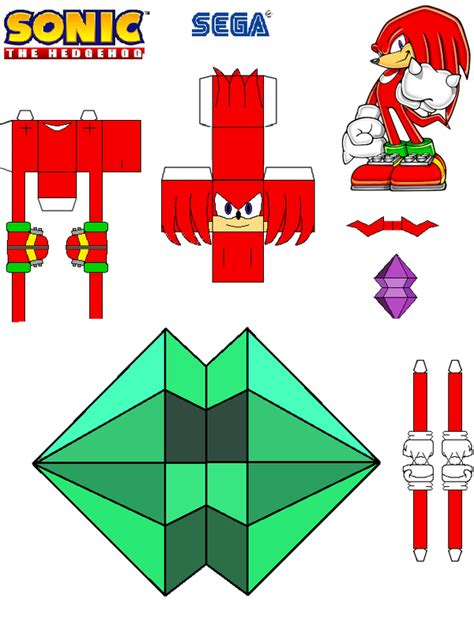 Papercraft Sonic - sonic the hedgehog papercraft knuckles by tvfan0001 on