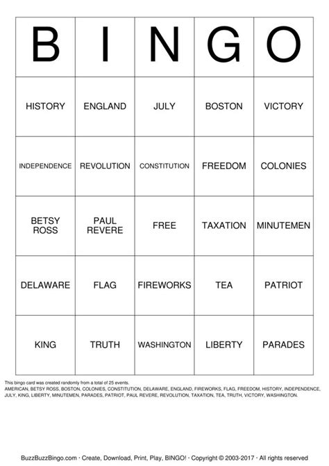 Freedom Gift Card - freedom bingo cards to download print and customize