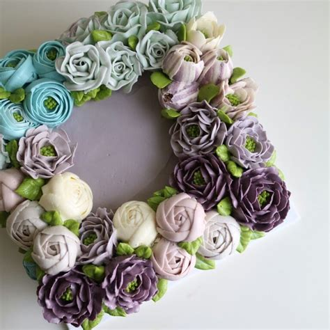 Wreath Style Korean Buttercream 17 best images about nana cake korean buttercream flower cake on apple blossoms
