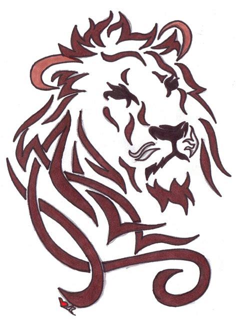 tattoo tribal lion head wonderful tribal lion head tattoo design art pinterest