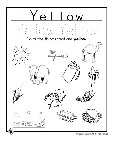 free worksheets and printables for kids education com learning colors worksheets for preschoolers color yellow