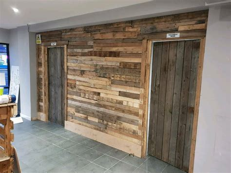 reclaimed pallet wood trade counter  leicester
