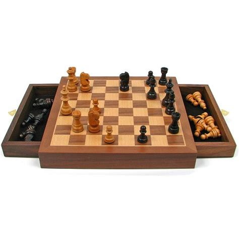 chess board walnut book style with staunton chessmen brown inlaid walnut style magnetized wood chess set with