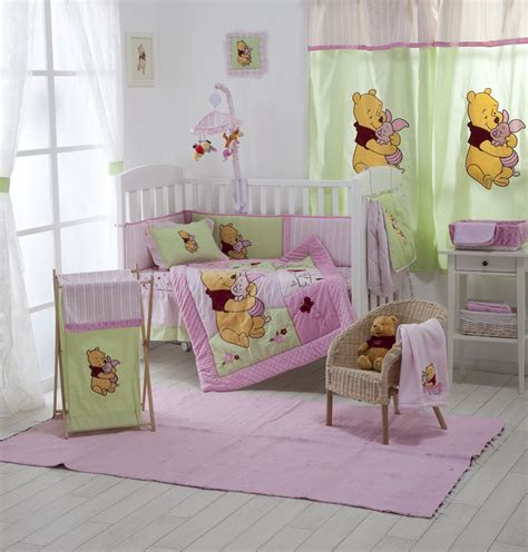 pink winnie the pooh crib bedding collection 4 pc crib