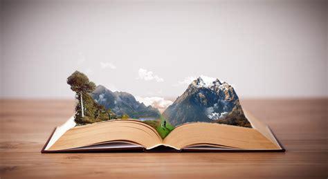 books mountains photoshop imagination peaceful hd