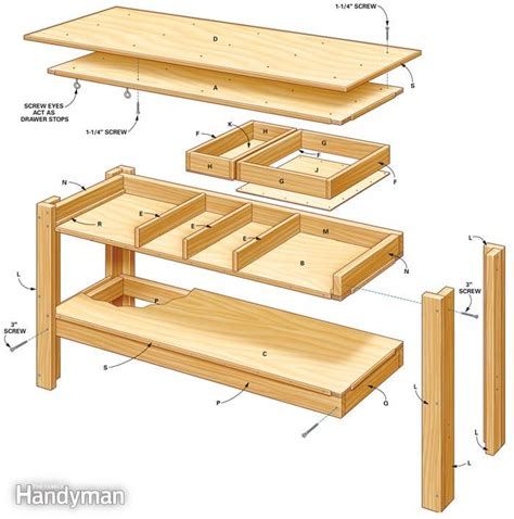 home workbench plans simple workbench plans the family handyman