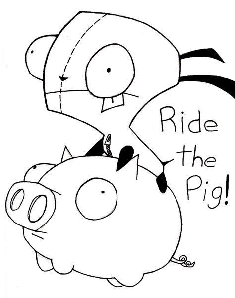 Gir Free Coloring Pages Gir Coloring Pages