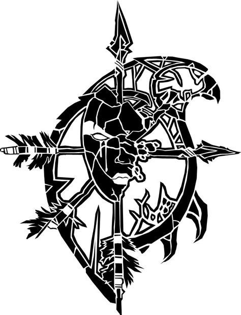 forsaken tattoo forsaken crest emblem and warcraft