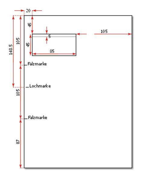 Brief Schweiz Din A4 Falzmarken Und Anschriftfeld Im Briefbogen Nach Din 676 Drucksachen