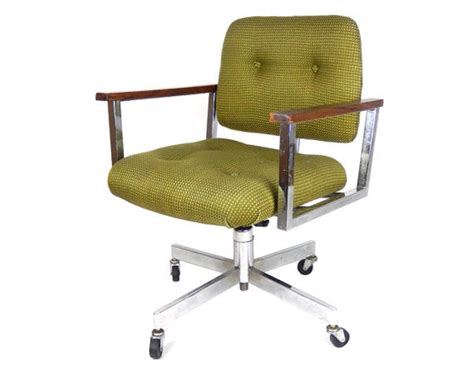 Mid Century Modern Desk Chair Without Wheels : Mid Century