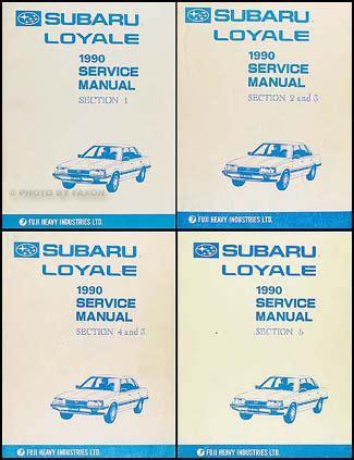 auto repair manual free download 1990 subaru loyale lane departure warning 1990 subaru loyale repair shop manual original 6 section set