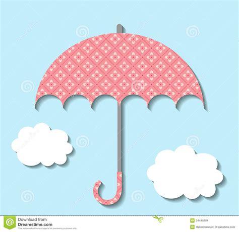 printable paper umbrella paper umbrella with clouds stock vector image of