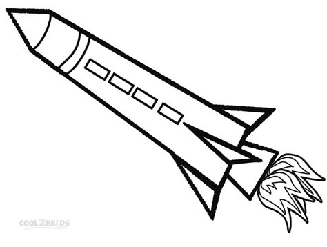 free coloring pages of 2 rockets