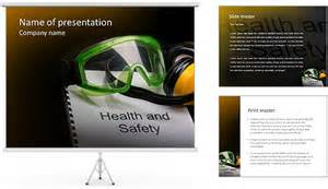 Health And Safety Powerpoint Templates by Health And Safety Register With Goggles And Earphones
