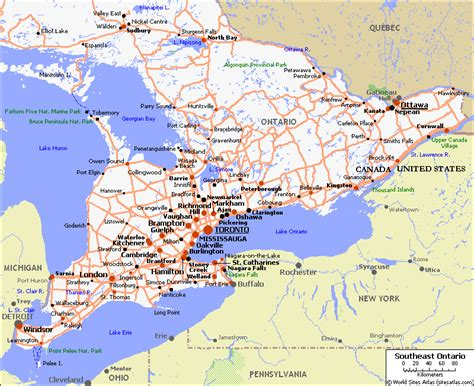 printable road maps ontario map of eastern ontario pictures to pin on pinterest