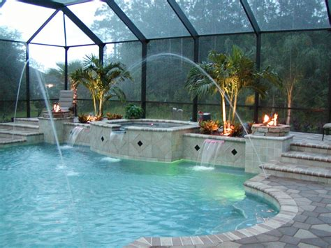 pool fire pit image gallery romanpool