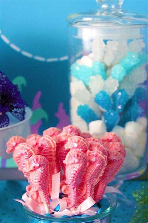Seahorse Baby Shower Decorations by Kara S Ideas Mermaid Themed Birthday Kara S