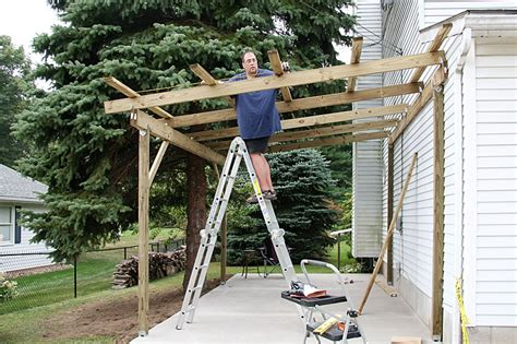 Building An Attached Carport | how to build a timber lean to carport house pinterest