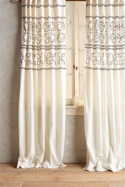 Navy And Curtains Navy And White Dandelions Curtain