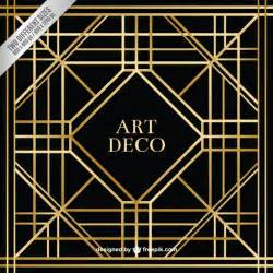 Art Deco geometric art deco background vector free download