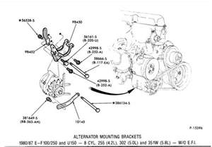 ford 302 alternator bracket diagram motorcycle review and galleries