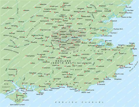 map uk south east south east map powerpoint mountain high maps plus