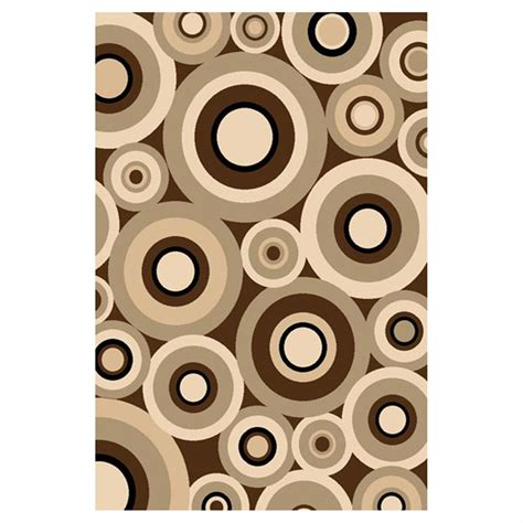 Circle Area Rug Donnieann 174 5x8 Sculpture Area Rug Chocolate Beige Circle Pattern 215426 Rugs At
