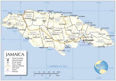 jamaica map with cities jamaica map map of jamaica jamaica map in