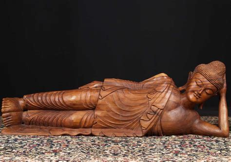the reclining lotus sold large wooden reclining buddha 60 quot 67bw7 hindu