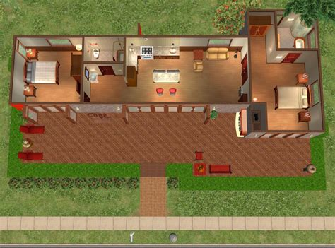 hummingbird h3 house plans mod the sims hummingbird h2 modern base game no cc two bedroom house